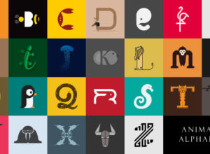 Designer Create Animals Clever Alphabetical Logos