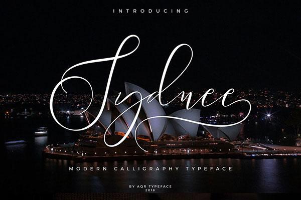 sydney Free Calligraphy Fonts