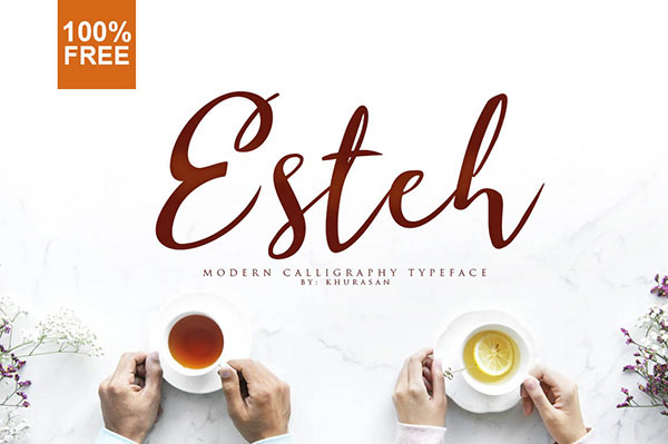esteh Free Calligraphy Fonts