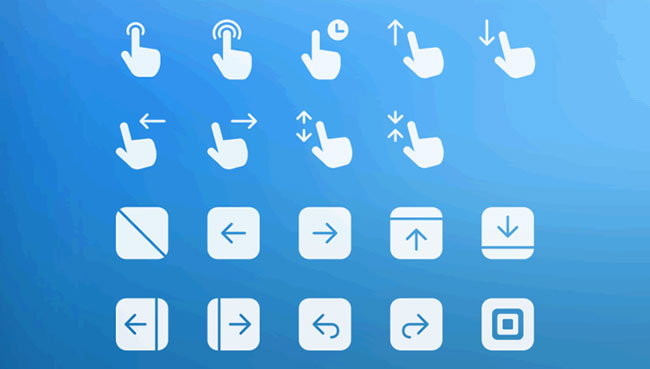 Free Touch Gesture Icons For App Designers