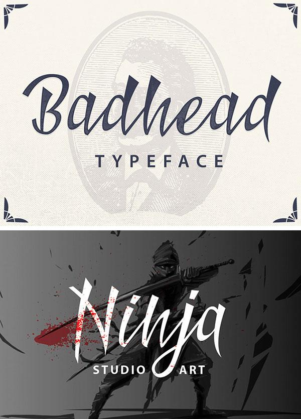 ninja Free Calligraphy Fonts