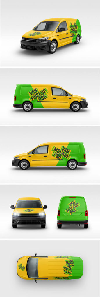 free vehicles psd mockups
