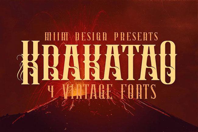 top vintage font