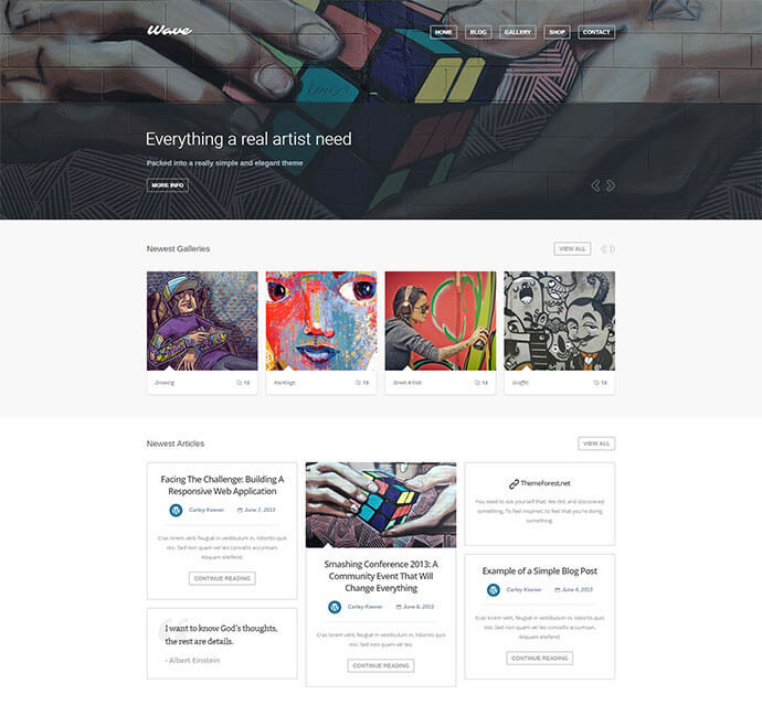 artist wordpress themes