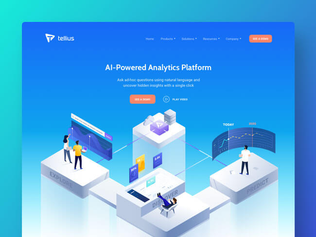 Isometric Illustrations web graphics