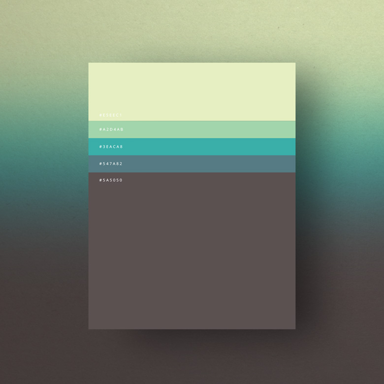 Flat Color Palettes for web designer