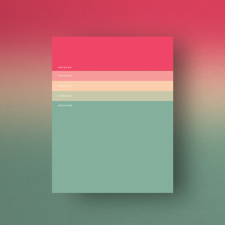 Flat Color Palettes for graphic designer