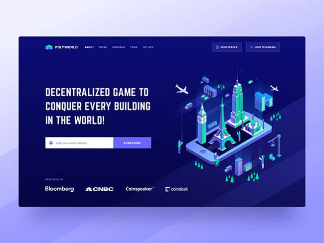Isometric Illustrations web page