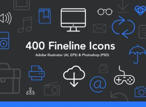 FREE Fineline Icons Set