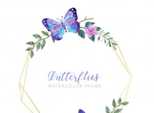 Beautiful Vintage Floral Greeting Frame Free Vector