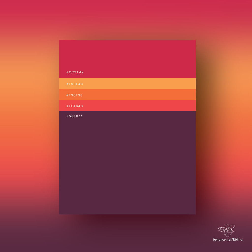 Beautiful Flat Color Palettes For UI/UX Designers
