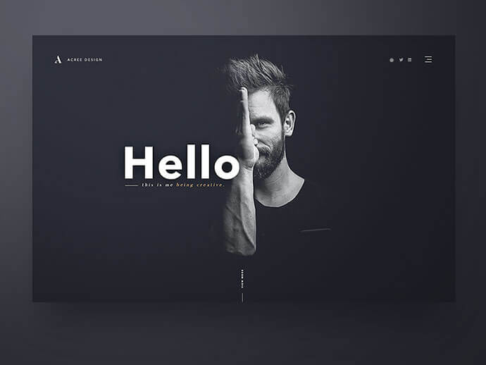 dark background ui design inspiration