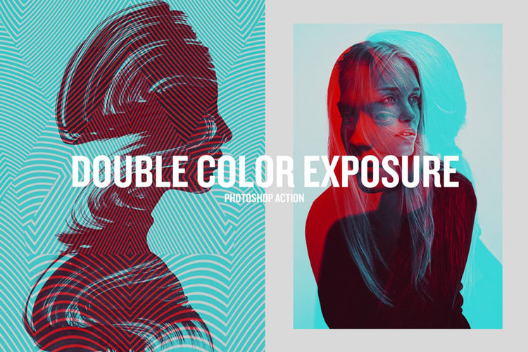 Double Color Exposure Best Creative Photoshop Actions