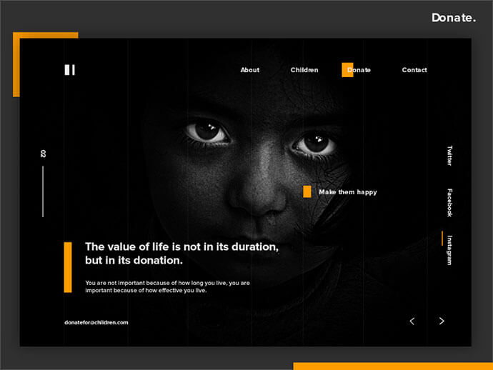 donation dark web ui design