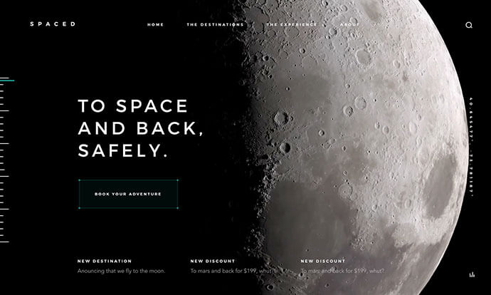 dark space web ui design