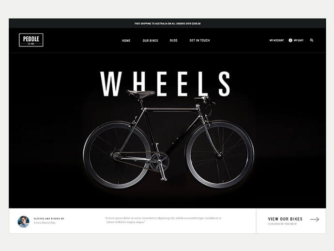 Dark Background Web UI Designs
