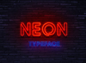 Neon Typeface Font Free Download