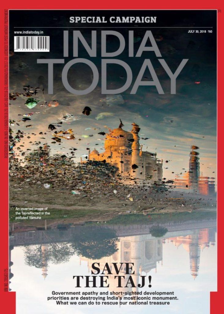 india today brilliant cover design about saving the taj