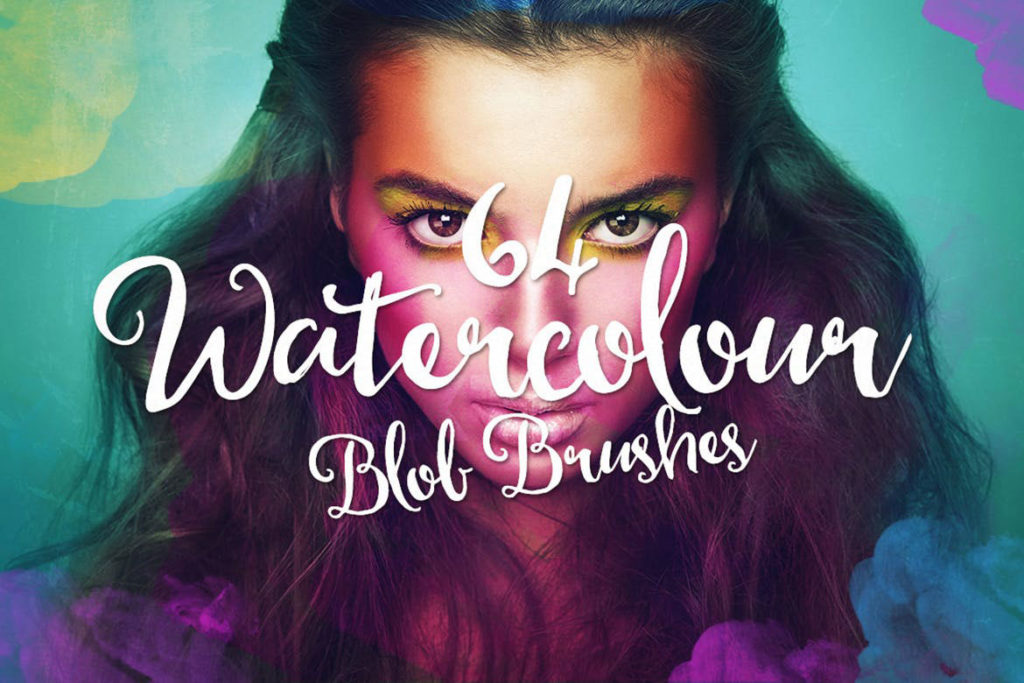Watercolor Blob Photoshop Brushes