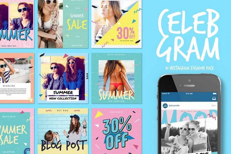 Instagram Sale Post & Stories PSD Templates