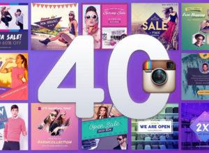 Instagram Post & Stories PSD Templates