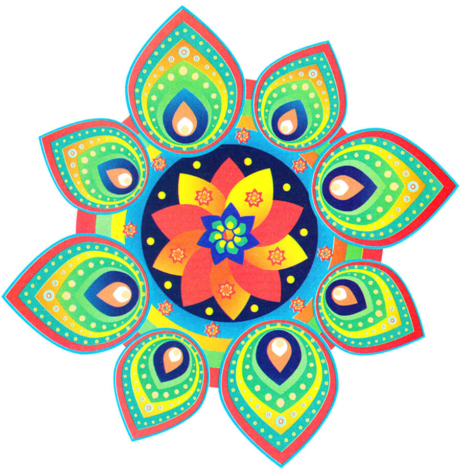 Beautiful Simple Rangoli Designs