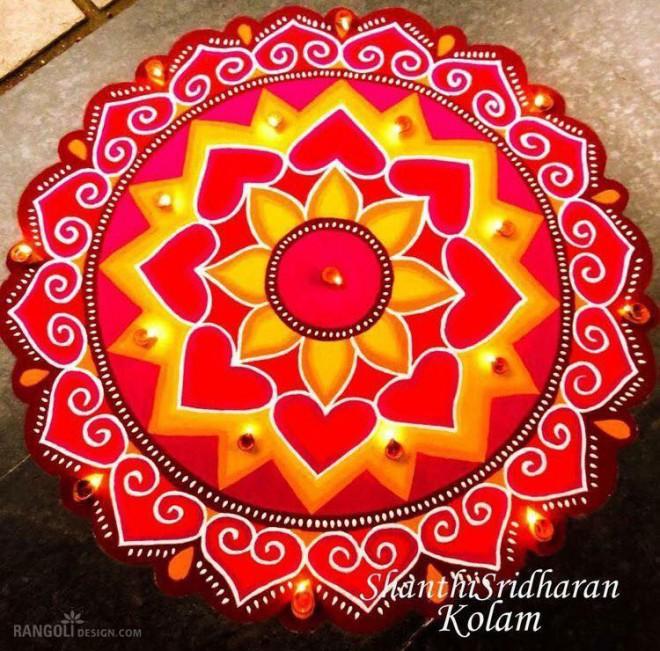 diwali easy rangoli design