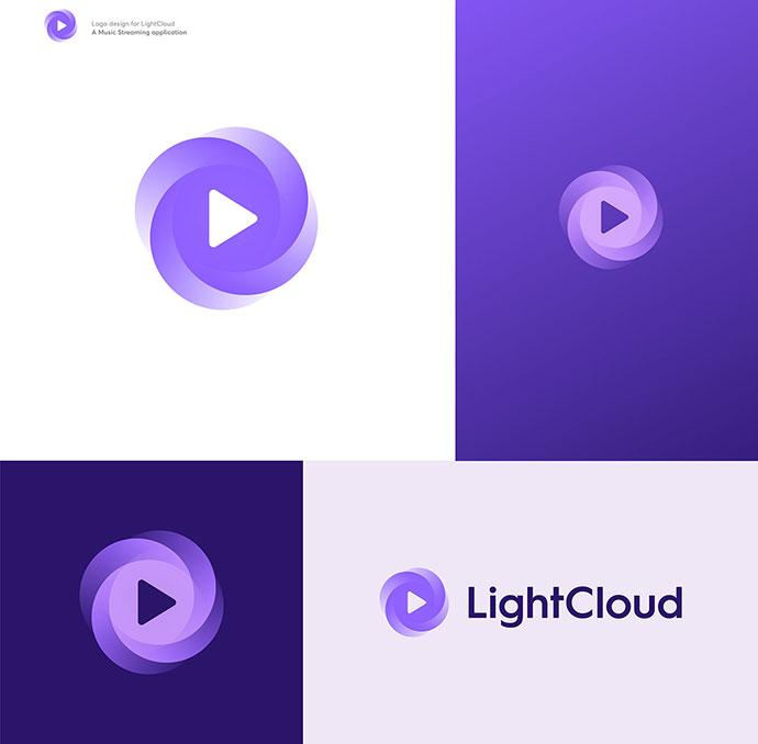 Clever Gradient Logo Designs