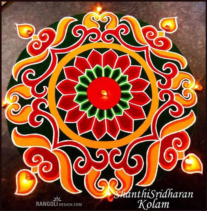 Beautiful Diwali Rangoli and Kolam Designs