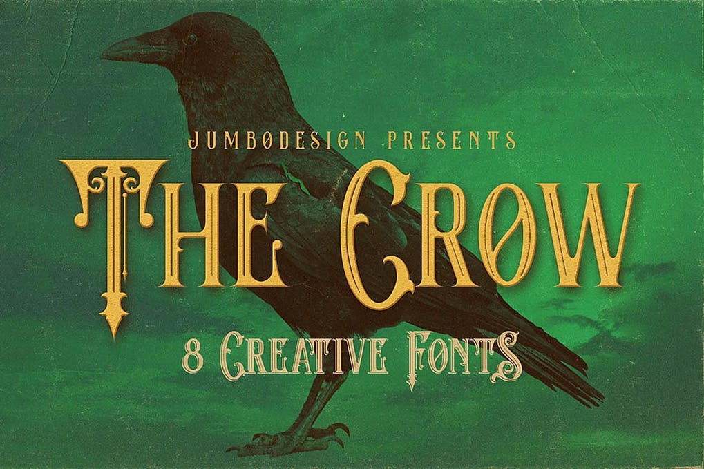 crow Best Scary Halloween Fonts