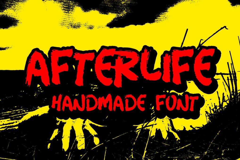 comic style halloween font