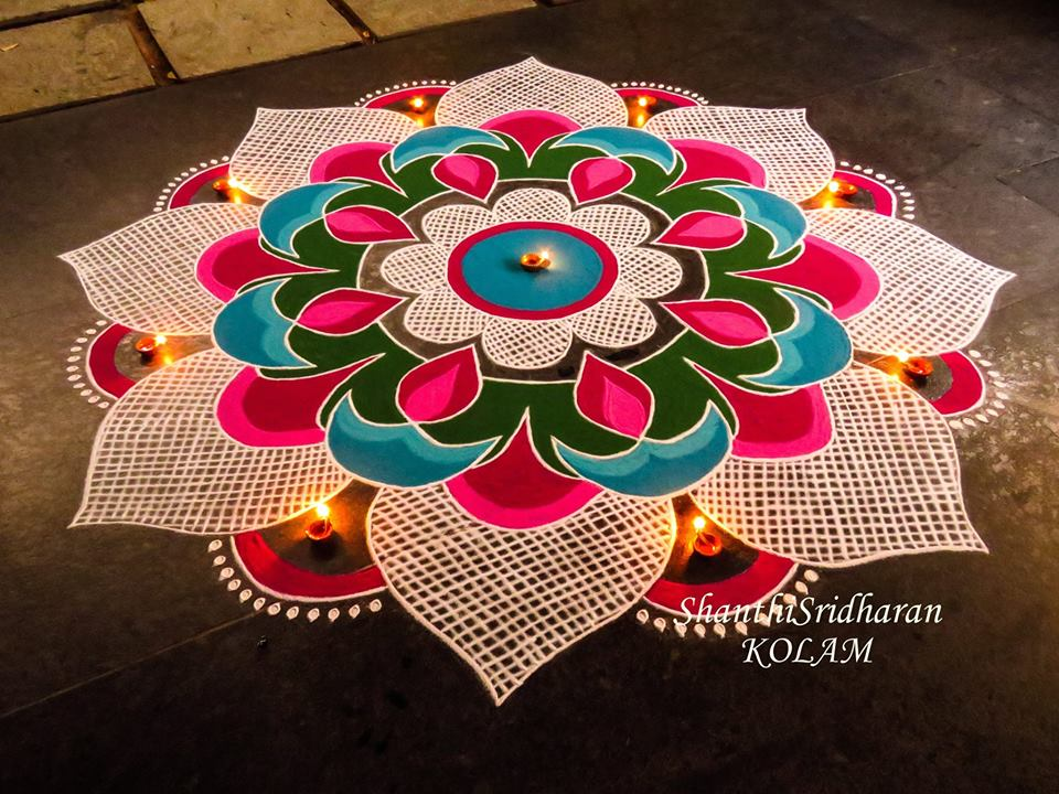 colorful rangoli design
