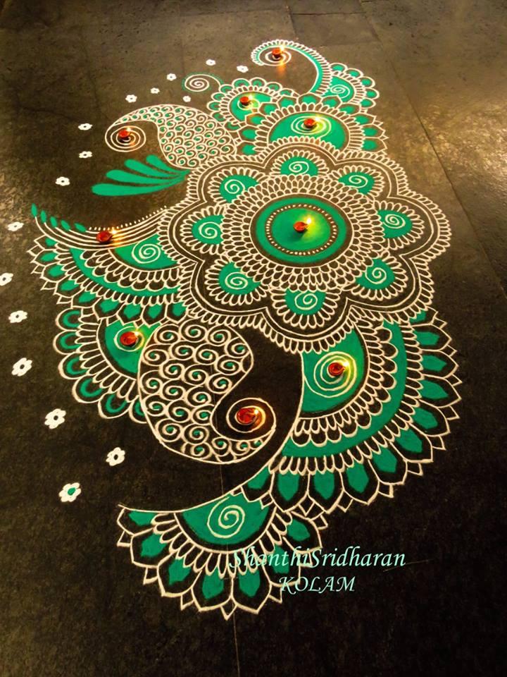 30 Beautiful Diwali Rangoli and Kolam Designs By Shanthi ...  Diwali Rangoli Images Designs Diwali Rangoli