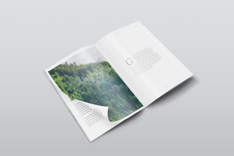 free magazine mockup psd download
