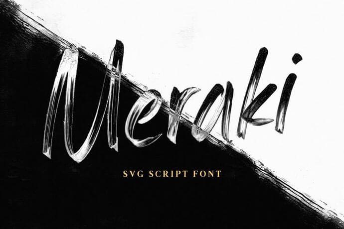 realistic svg script font