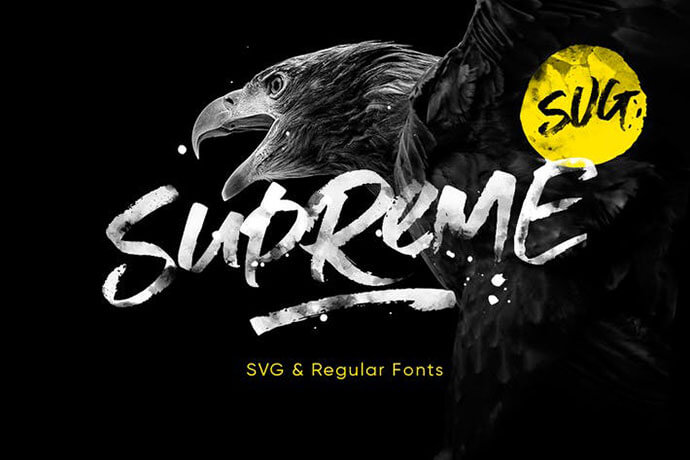 modern script svg font