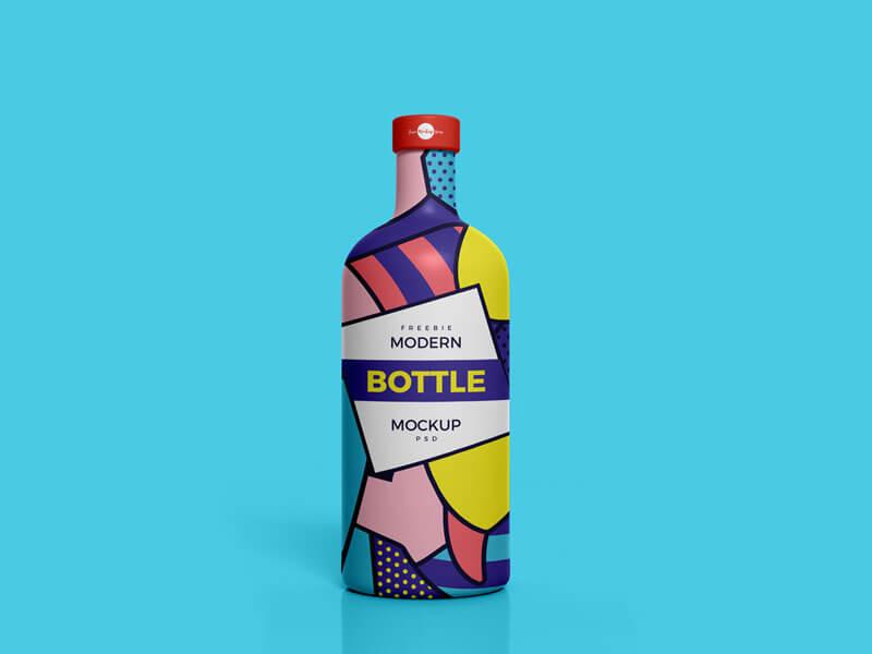 Modern Brand Bottle Mockup PSD