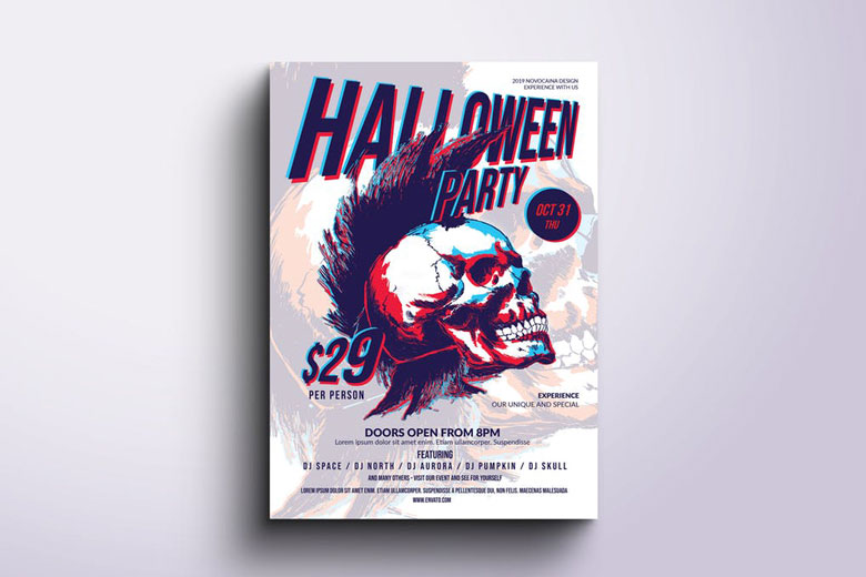 Funky Halloween Flyer Templates