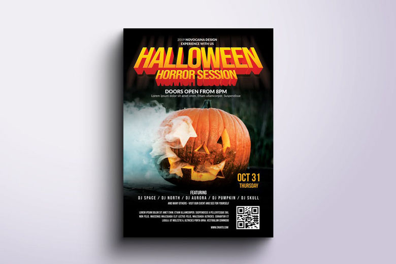 Movie poster Halloween Flyer Templates