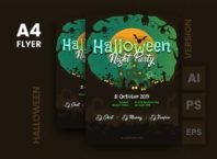 Dark Halloween Flyer Templates