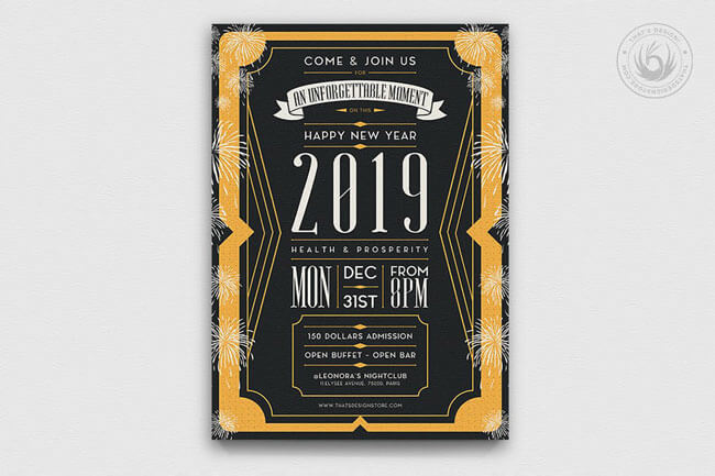 Happy New Year Party Flyer Templates
