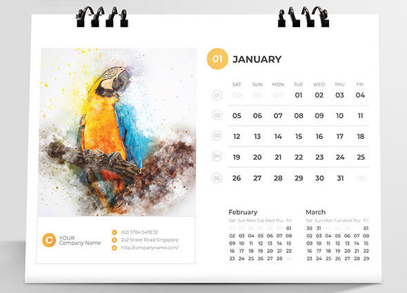 Bird Calendar Design Ideas