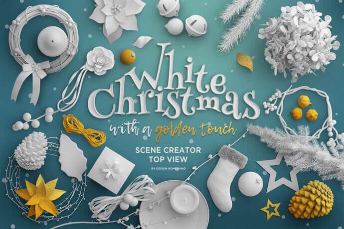 White  Christmas Scene Generator Mockups