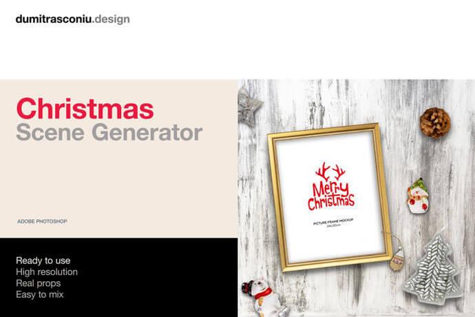 Simple  Christmas Scene Generator Mockups