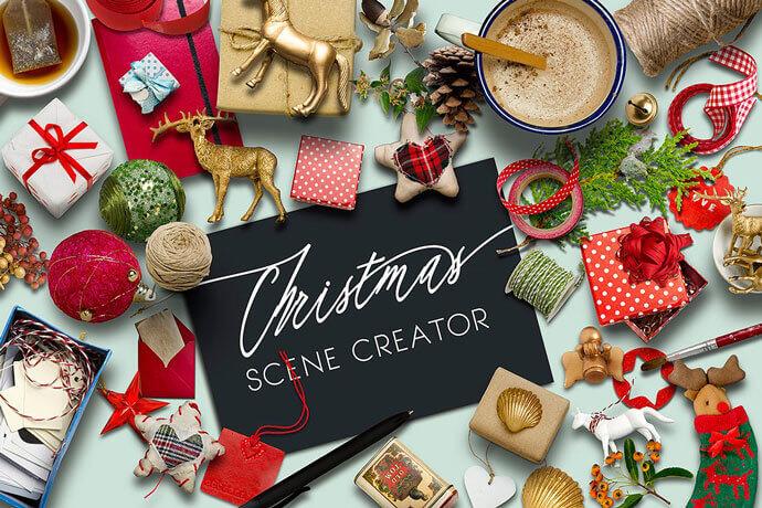 Realistic  Christmas Scene Generator Mockups