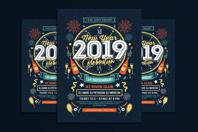 Happy New Year Flyer