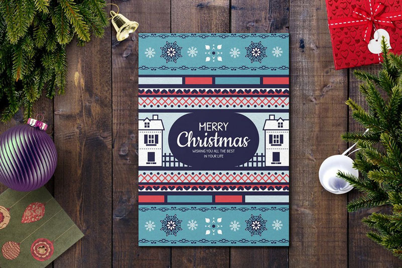 Cool Christmas Card PSD Template