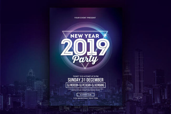 15 best happy new year 2019 flyer templates psd ai