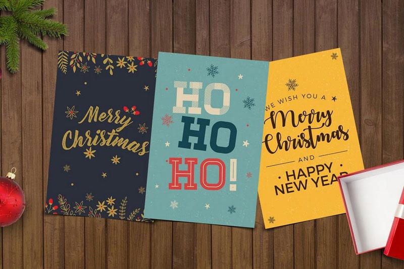 Simple Christmas Card PSD Template