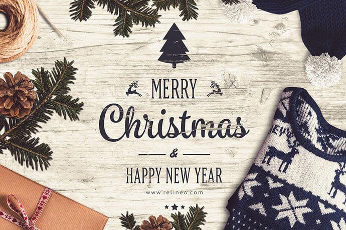 Christmas and new year Scene Generator Mockups